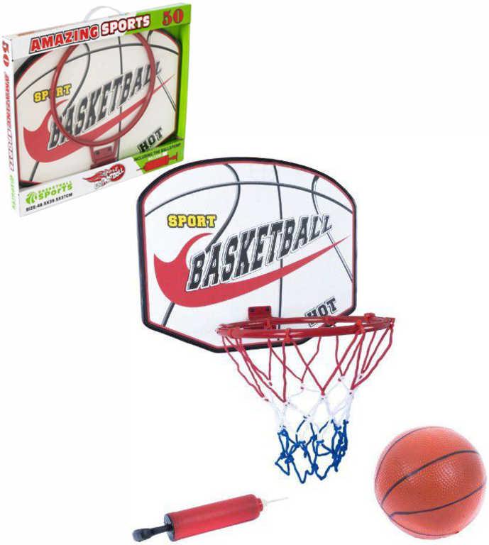 Koš basketbalový sportovní set s míčem a pumpičkou v krabici