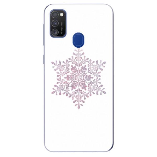 Odolné silikonové pouzdro iSaprio - Snow Flake - Samsung Galaxy M21