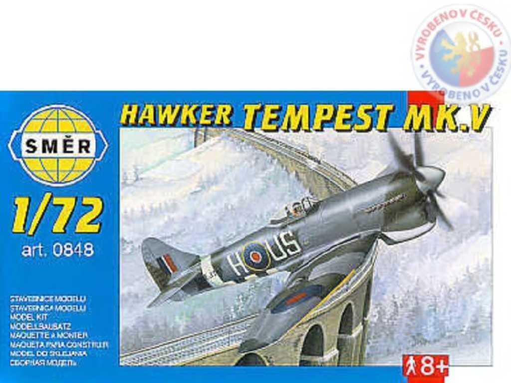 SMĚR Model letadlo Hawker Tempest MK V 1:72 (stavebnice letadla)