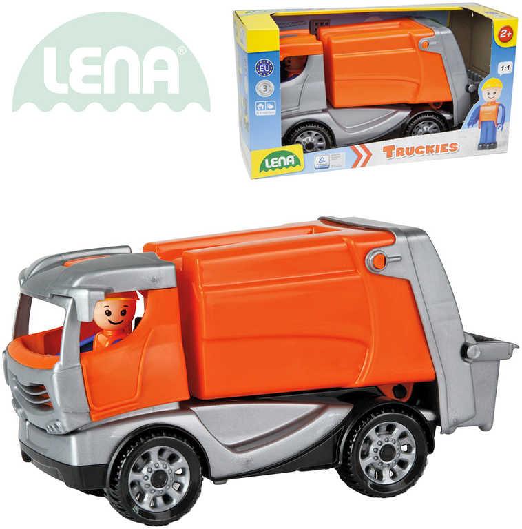 LENA Truckies popeláři 25 cm set baby autíčko + panáček 01623