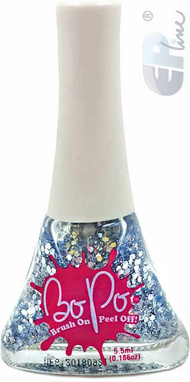 EP Line BO-PO Lak na nehty slupovací stříbrný se třpytkami Sparkles