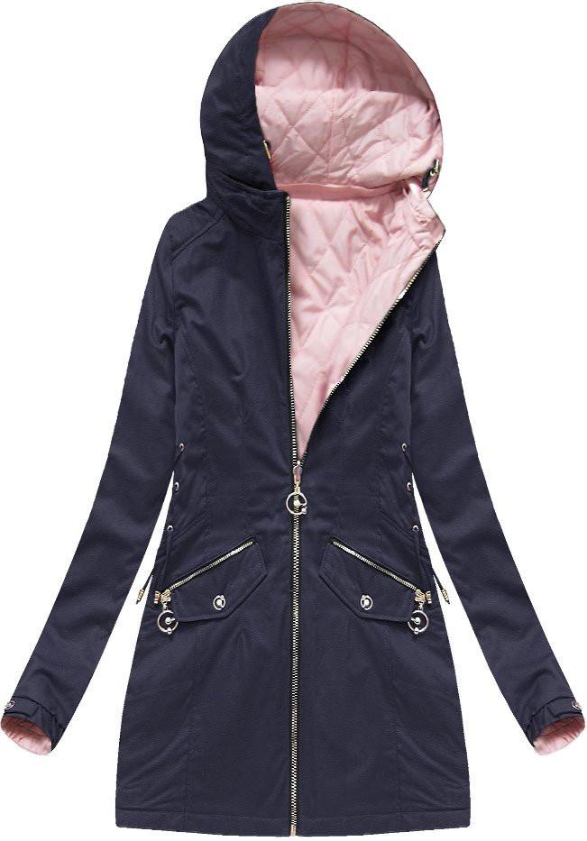 Oboustranná tmavě modrá bunda s kapucí (XW610X)