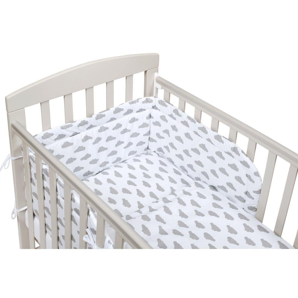 2-dílné ložní povlečení New Baby 90/120 cm obláčky šedé - šedá