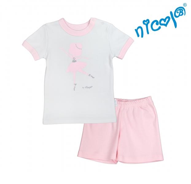 detske-pyzamo-kratke-nicol-baletka-sedo-ruzove-vel-128-128
