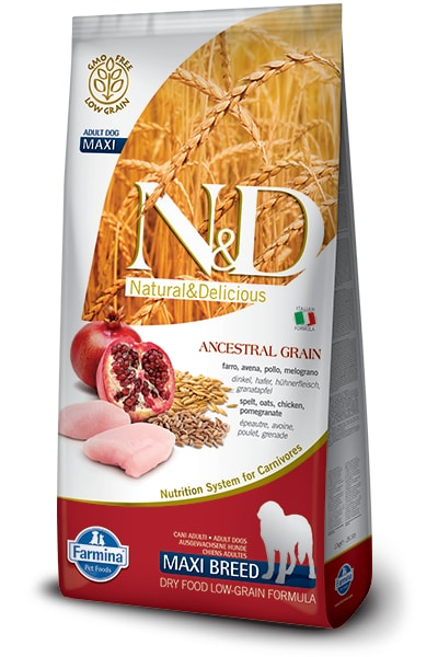 N&D LG DOG Adult Maxi Chicken & Pomegranate 12kg