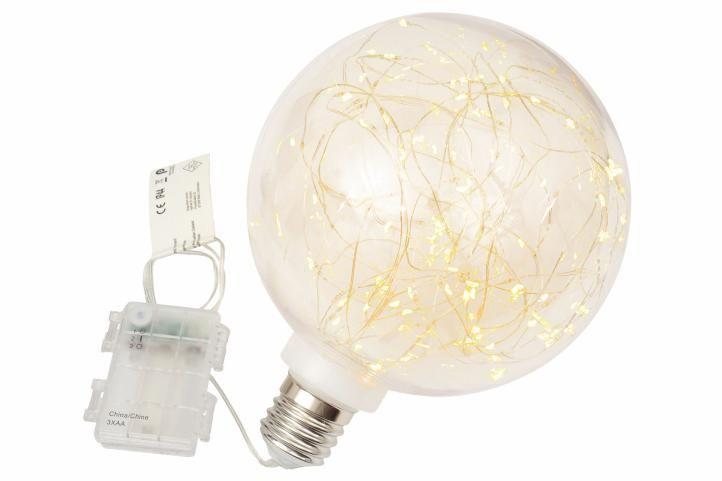 Vánoční dekorace - žárovka - 80 LED teple bílá