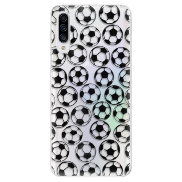 Odolné silikonové pouzdro iSaprio - Football pattern - black - Samsung Galaxy A30s