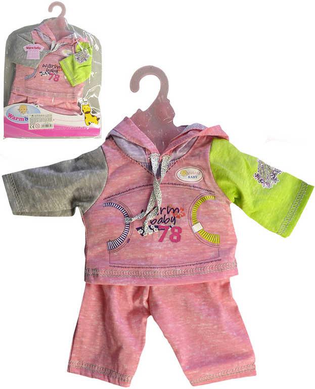 Oblečení pro panenku miminko 42cm mikina + tepláky set s ramínkem