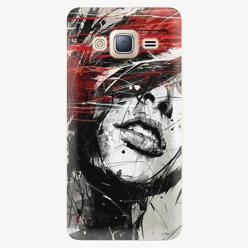 Plastový kryt iSaprio - Sketch Face - Samsung Galaxy J3