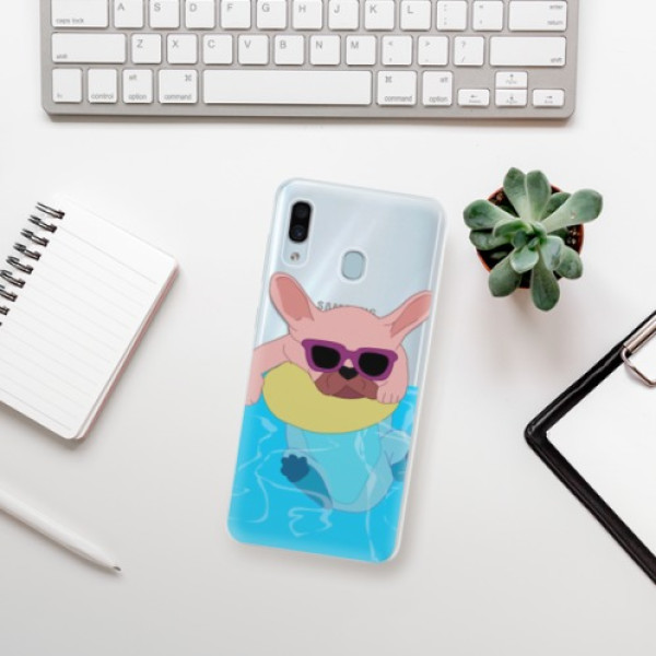 Silikonové pouzdro iSaprio - Swimming Dog - Samsung Galaxy A30
