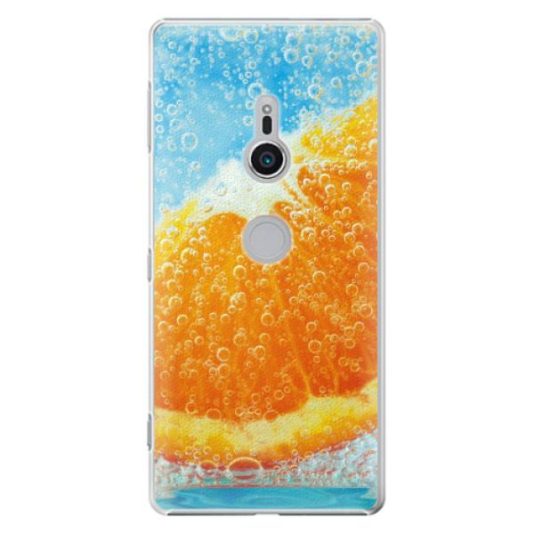 Plastové pouzdro iSaprio - Orange Water - Sony Xperia XZ2