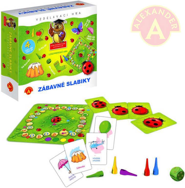 ALEXANDER Hra vzdělávací zábavné slabiky *SPOLEČENSKÉ HRY*