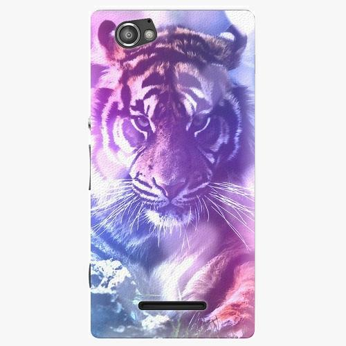 Plastový kryt iSaprio - Purple Tiger - Sony Xperia M