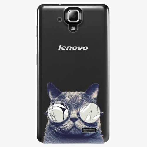 Plastový kryt iSaprio - Crazy Cat 01 - Lenovo A536