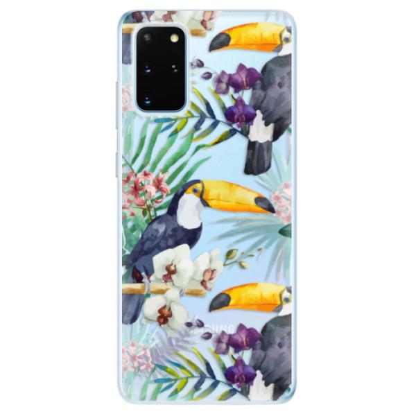 Odolné silikonové pouzdro iSaprio - Tucan Pattern 01 - Samsung Galaxy S20+