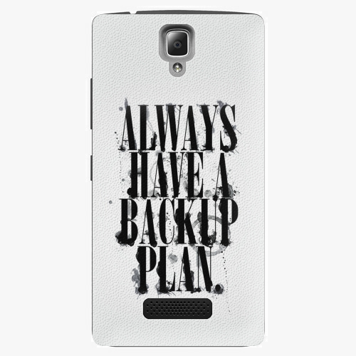 Plastový kryt iSaprio - Backup Plan - Lenovo A2010