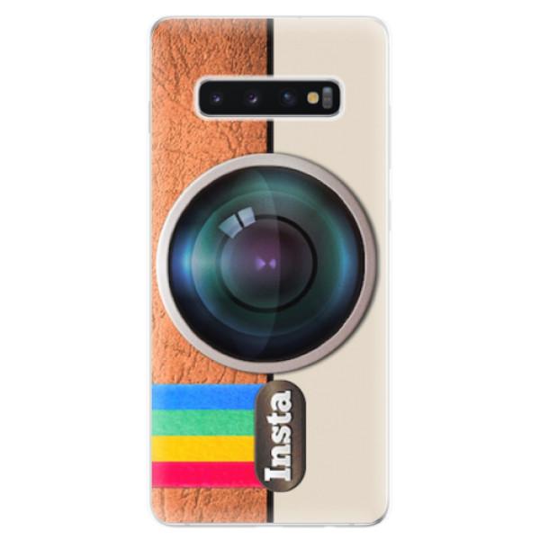 Odolné silikonové pouzdro iSaprio - Insta - Samsung Galaxy S10+