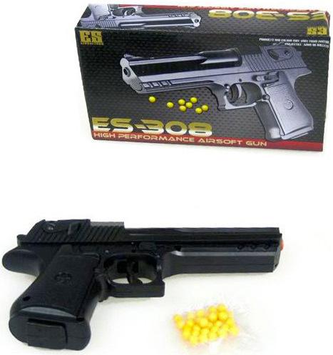 Pistole na kuličky 18cm černý revolver kuličkovka set s náboji v krabičce