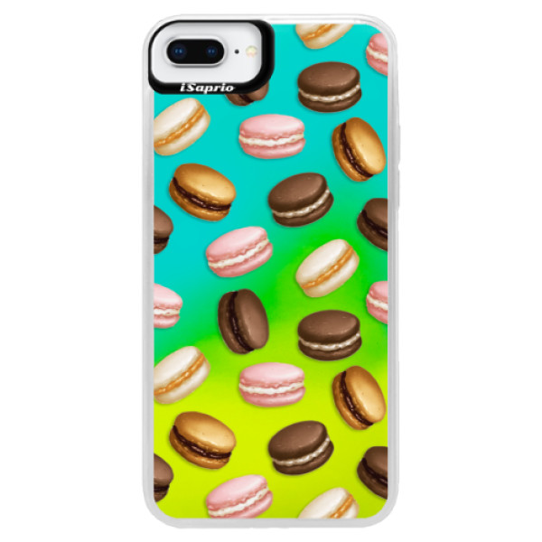 Neonové pouzdro Blue iSaprio - Macaron Pattern - iPhone 8 Plus