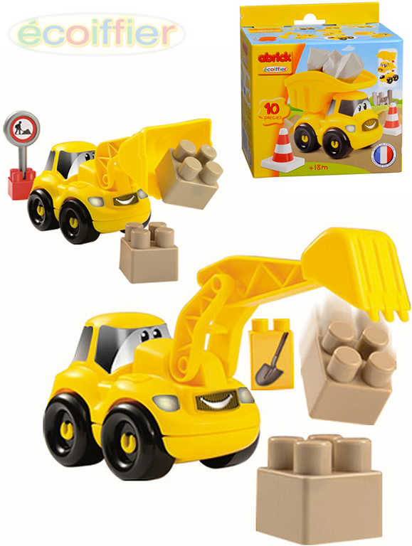 ECOIFFIER Baby autíčko Abrick stavební set s doplňky v krabičce - 3 druhy