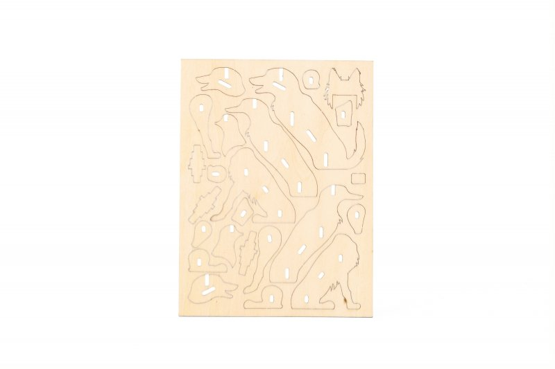 Skládací dřevěný pejsek