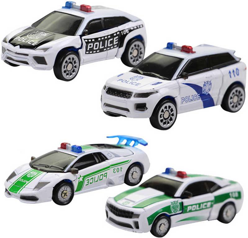 Robocarz 2v1 auto policejní s přeměnou 1:64 transrobot 4 druhy