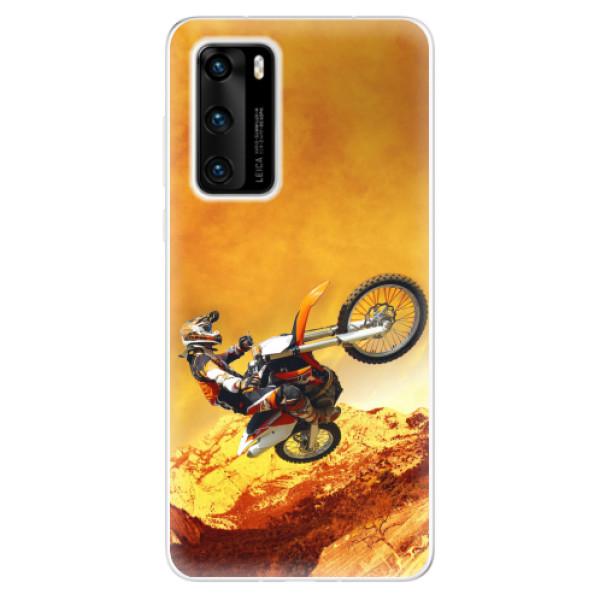 Odolné silikonové pouzdro iSaprio - Motocross - Huawei P40