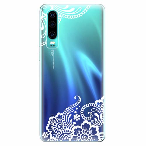 Silikonové pouzdro iSaprio - White Lace 02 - Huawei P30