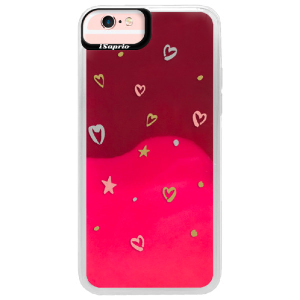 Neonové pouzdro Pink iSaprio - Lovely Pattern - iPhone 6/6S