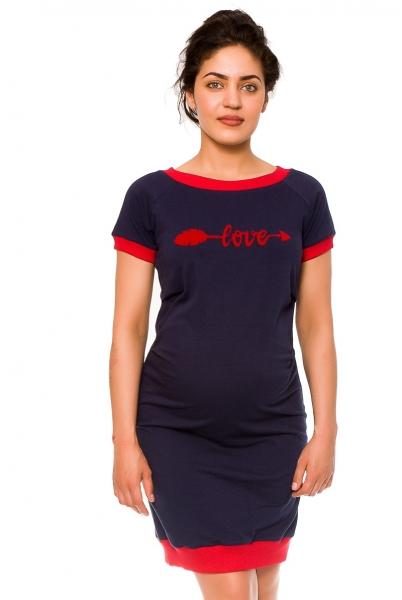 Těhotenské šaty Love - teplákové