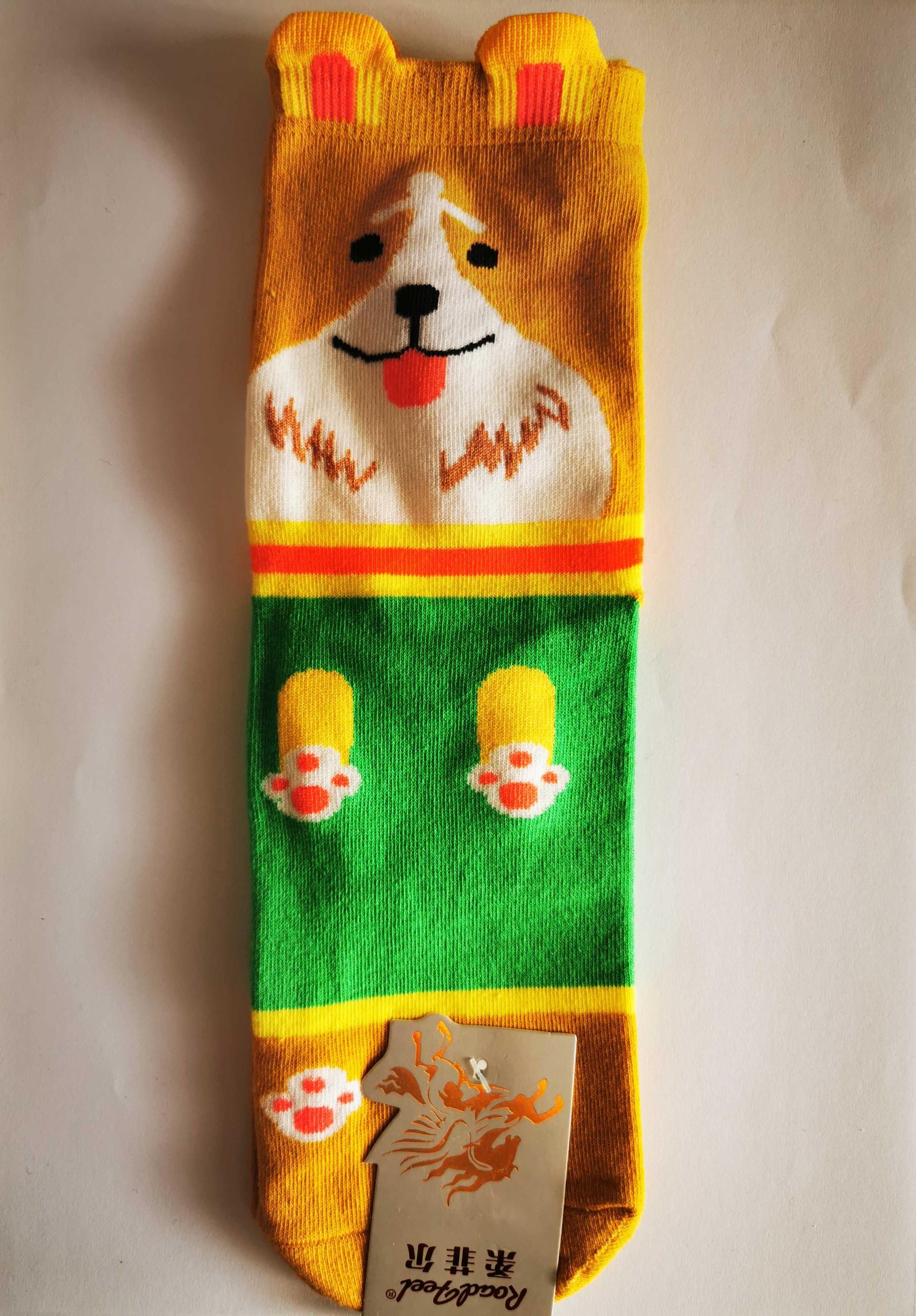 Ponožky s motivem zvířátek - Pejsek - vzor 5