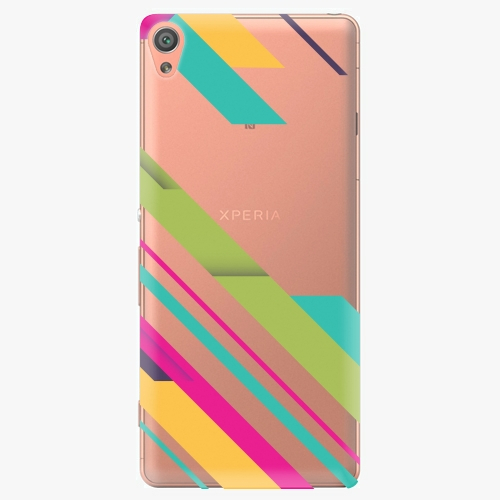 Plastový kryt iSaprio - Color Stripes 03 - Sony Xperia XA