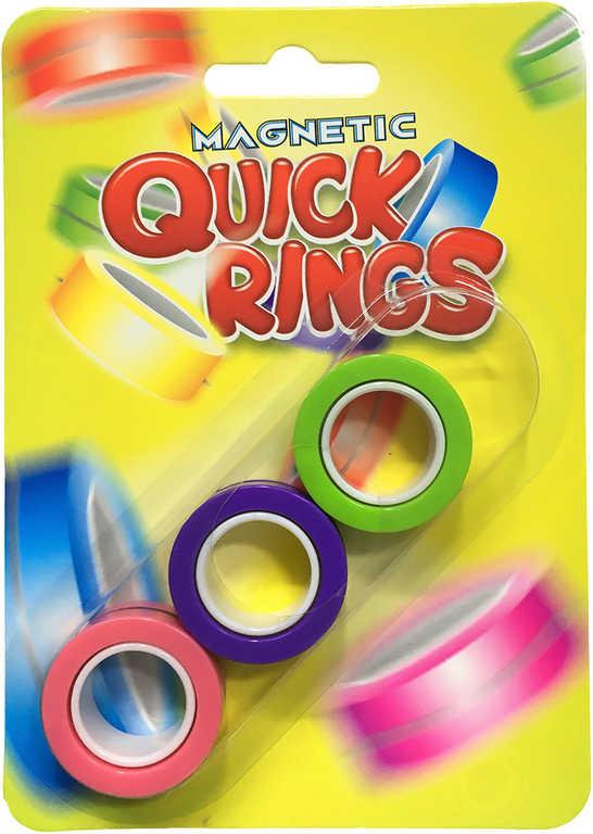 Quick rings finger fidget toy barevný 3cm set 3ks antistresové magnetické prsteny