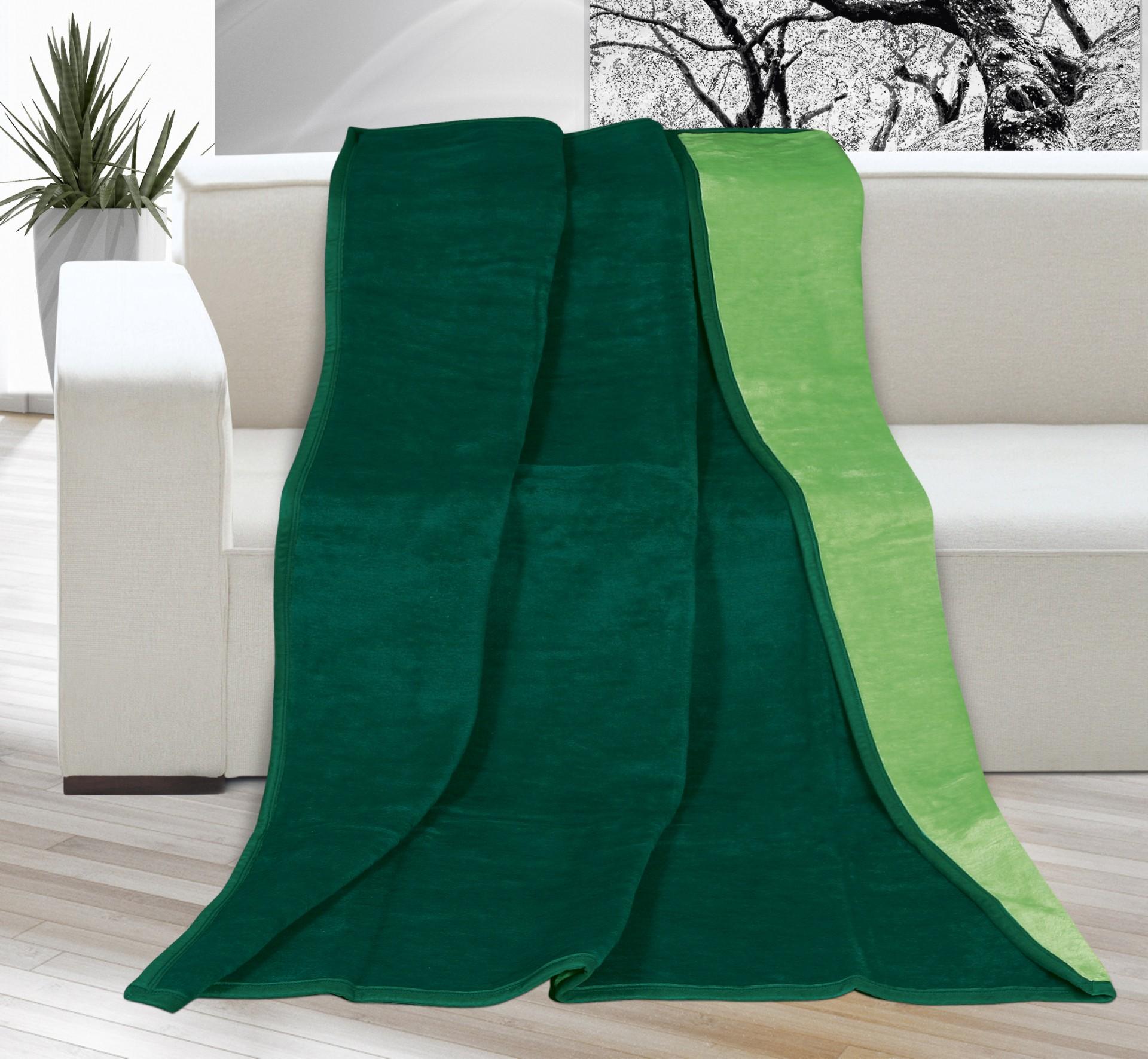 Deka Kira PLUS jednolůžko 150x200cm tm.zelená/zelená