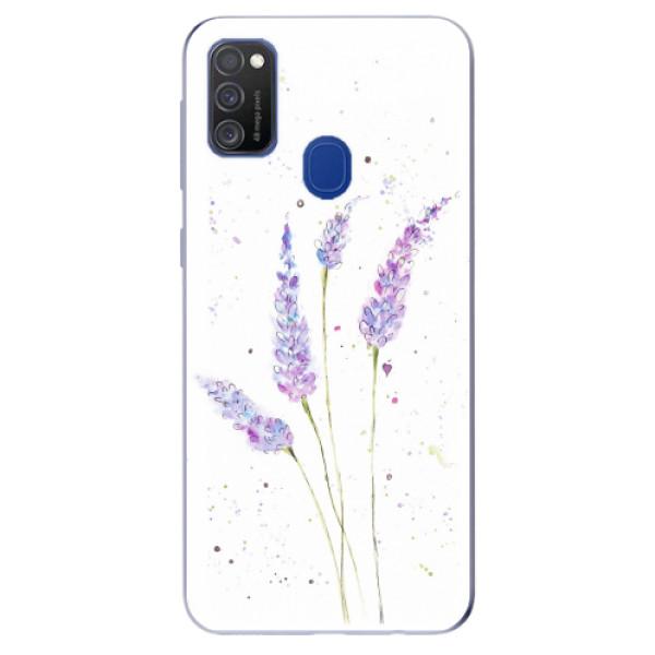 Odolné silikonové pouzdro iSaprio - Lavender - Samsung Galaxy M21
