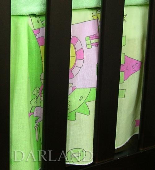 VÝPRODEJ Krásný volánek pod matraci - Zámek zelený - 120x60