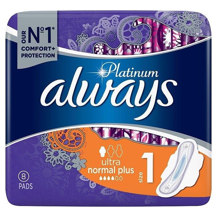 Ultra Normal plus hygienické vložky s křidélky a jemnou vůní 8ks/bal.