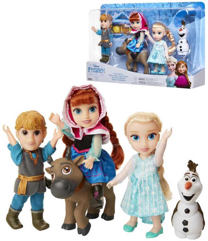 ADC Frozen (Ledové Království) Panenka Anna a Elsa s přáteli velký set 5 figurek