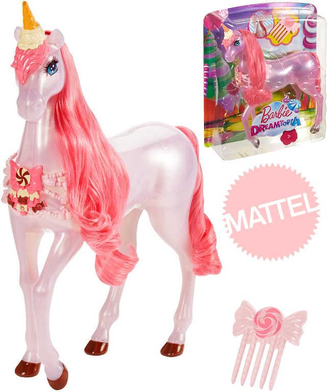 MATTEL BRB Barbie Dreamtopia Jednorožec sladký set koník s hřebínkem