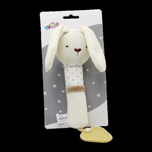 Plyšová hračka Tulilo s pískátkem Králíček, 17 cm - smetanový, K19