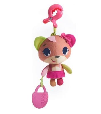 Závěsná hračka s kousátkem Medvídek - růžová