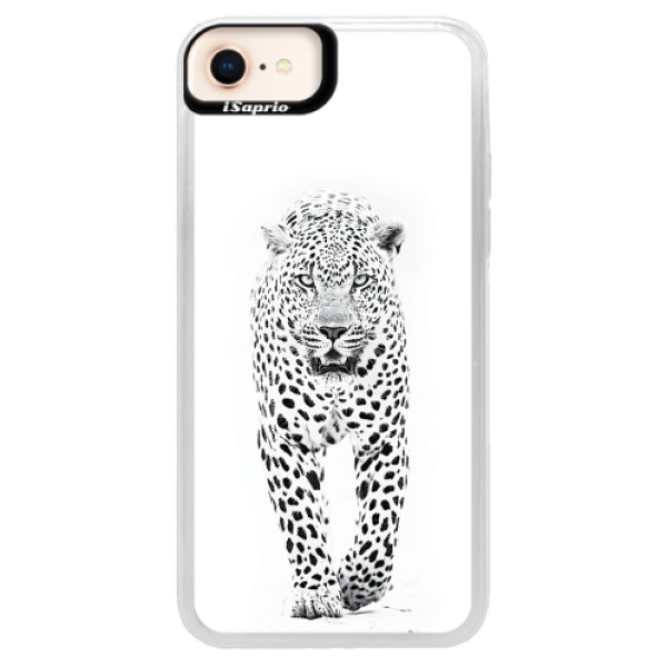 Neonové pouzdro Pink iSaprio - White Jaguar - iPhone 8