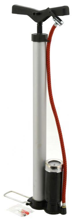 Hustilka ruční - 510 x 35 mm, ALU s manometrem