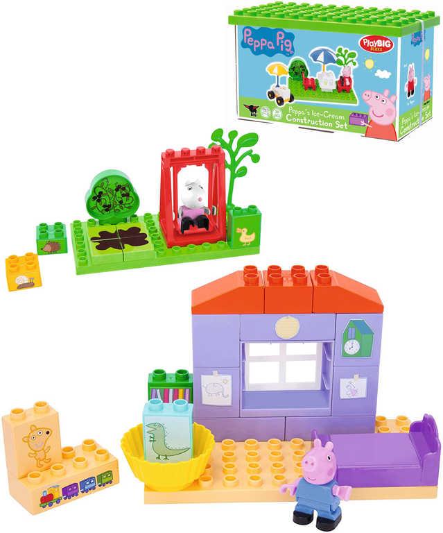 PlayBIG BLOXX Stavebnice Peppa Pig základní set s 1 figurkou v boxu - 4 druhy