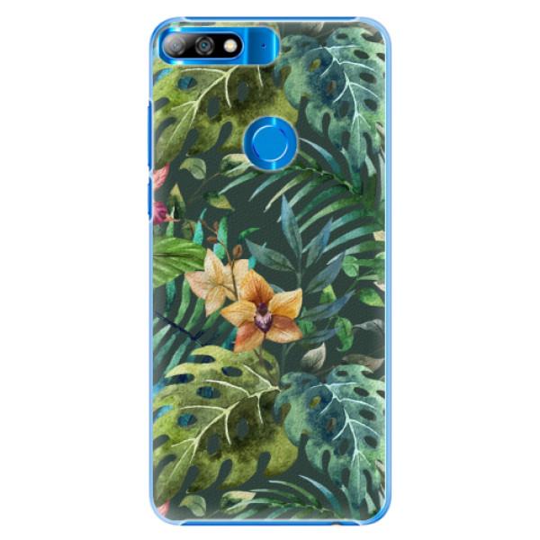 Plastové pouzdro iSaprio - Tropical Green 02 - Huawei Y7 Prime 2018