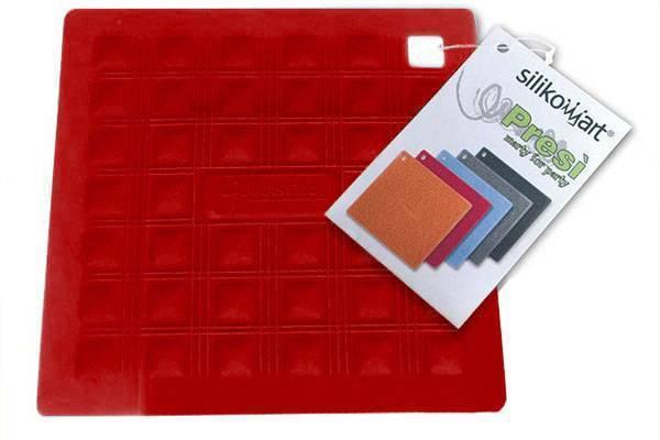 Silikonová podložka pod nádobí – červená