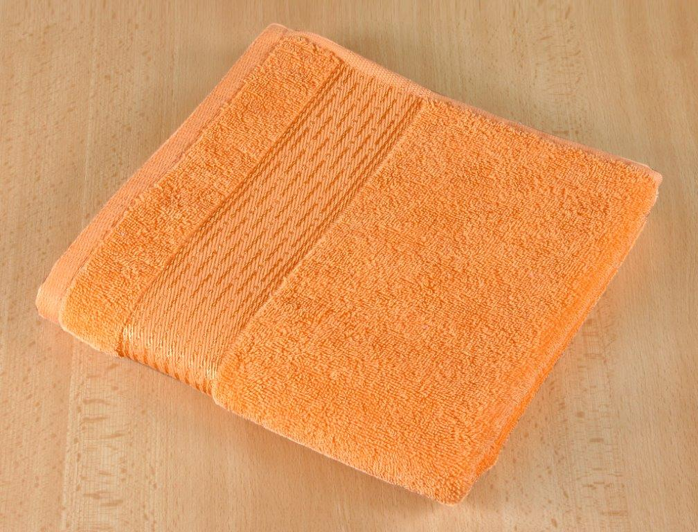 Froté osuška 70x140cm proužek 450g oranžová