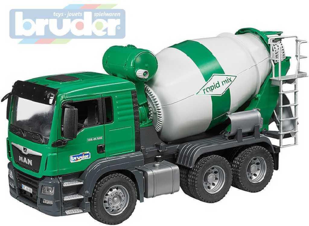 BRUDER 03710 (3710) Auto nákladní MAN TGS domíchávač funkční model 1:16 plast