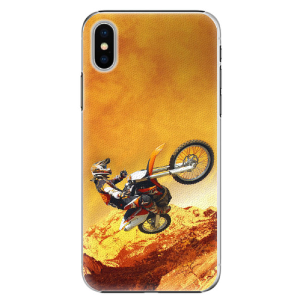 Plastové pouzdro iSaprio - Motocross - iPhone X