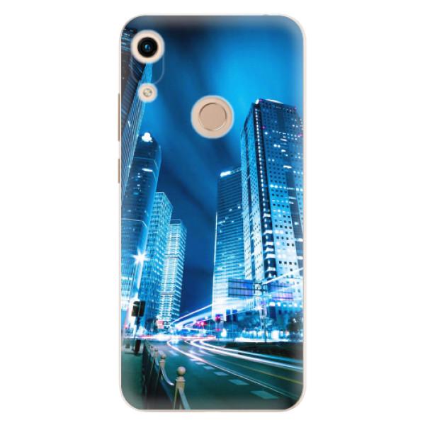 Odolné silikonové pouzdro iSaprio - Night City Blue - Huawei Honor 8A